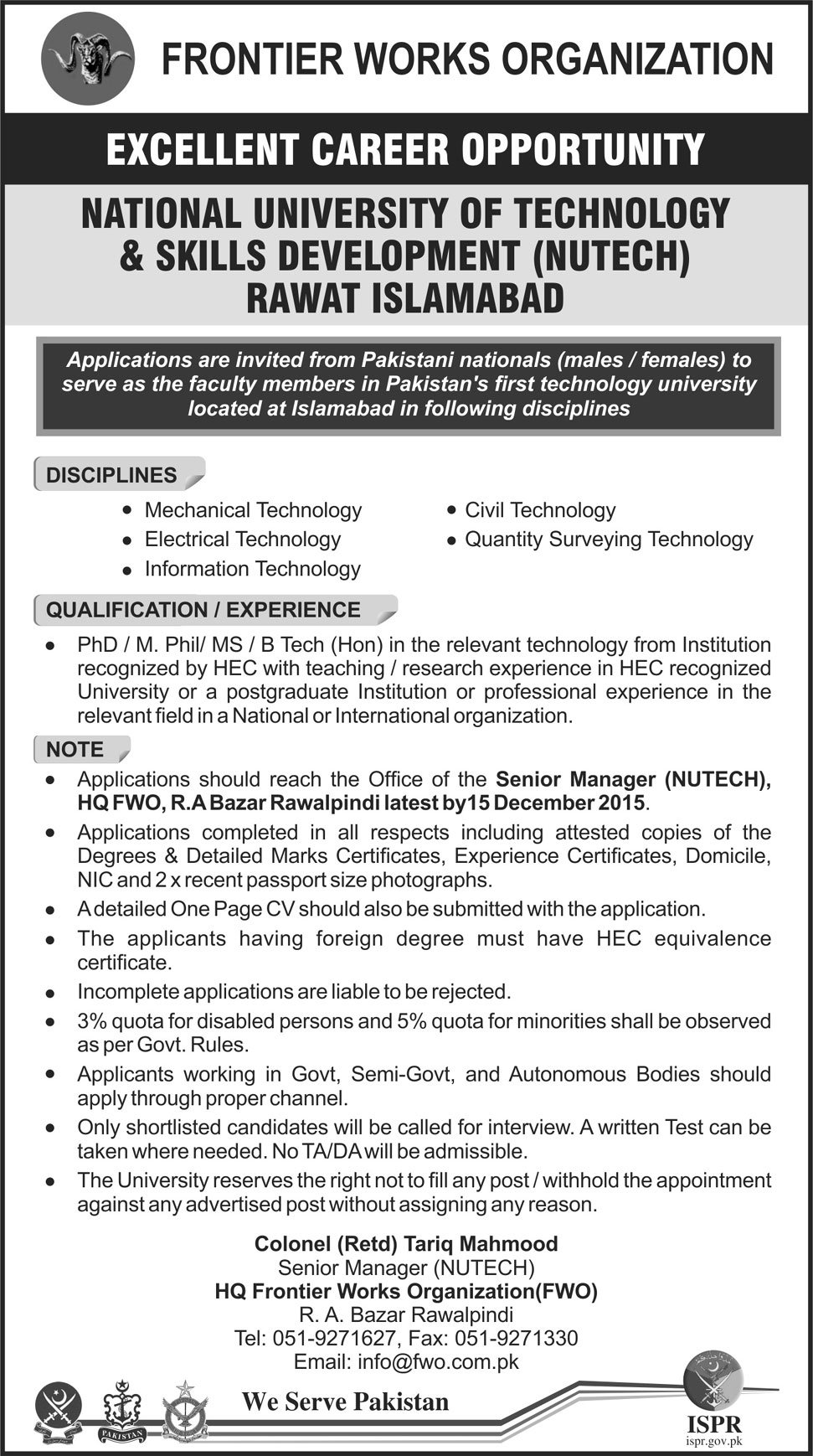 Excellent Teaching Staff Opportunities Faculty Staff