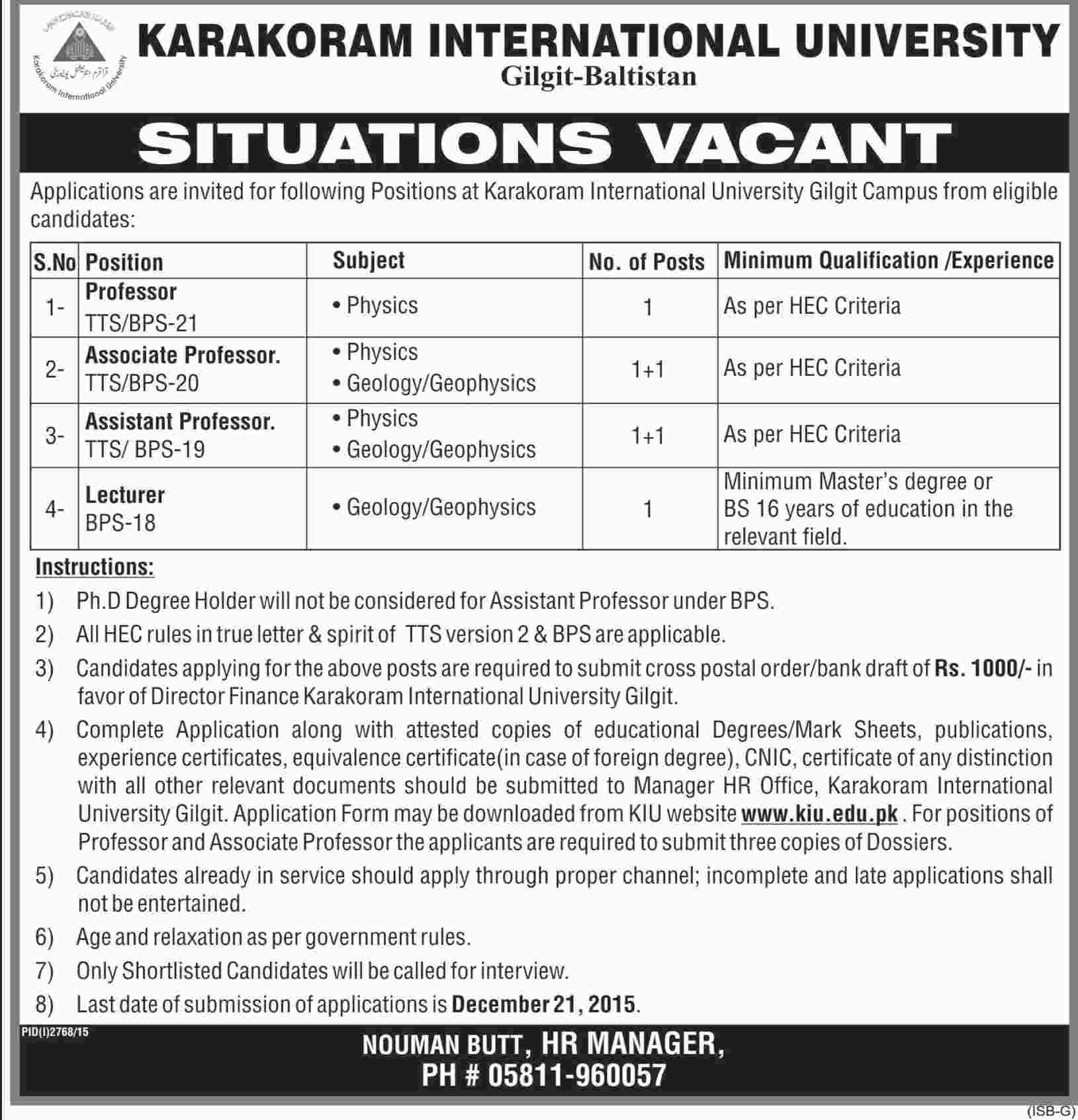 Karakoram Int Uni-Dawn