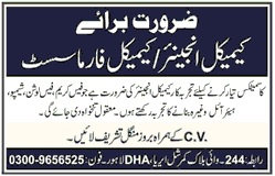 Chemical Engineer/ Chemical Pharmacist Jobs At Cosmetic