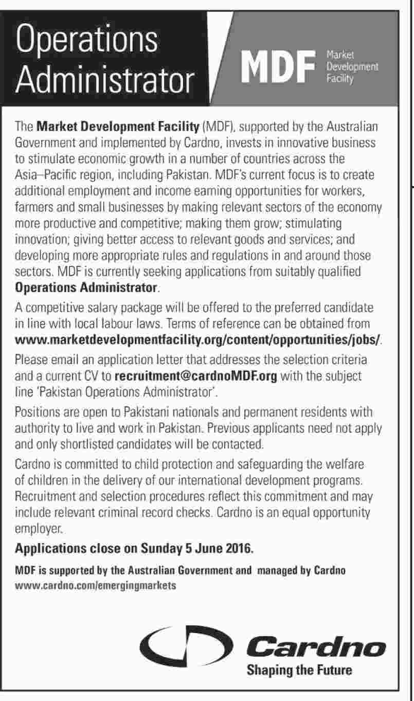 operations administrator jobs at market development facility mdf 29 05 2016 823 004