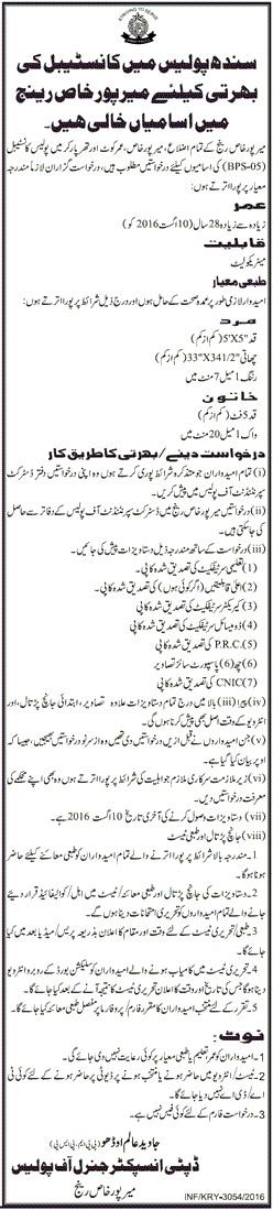 Police Mirpur Khas Range-Jang