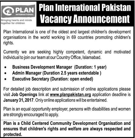 Plan International Ngo Jobs  Available For  Business
