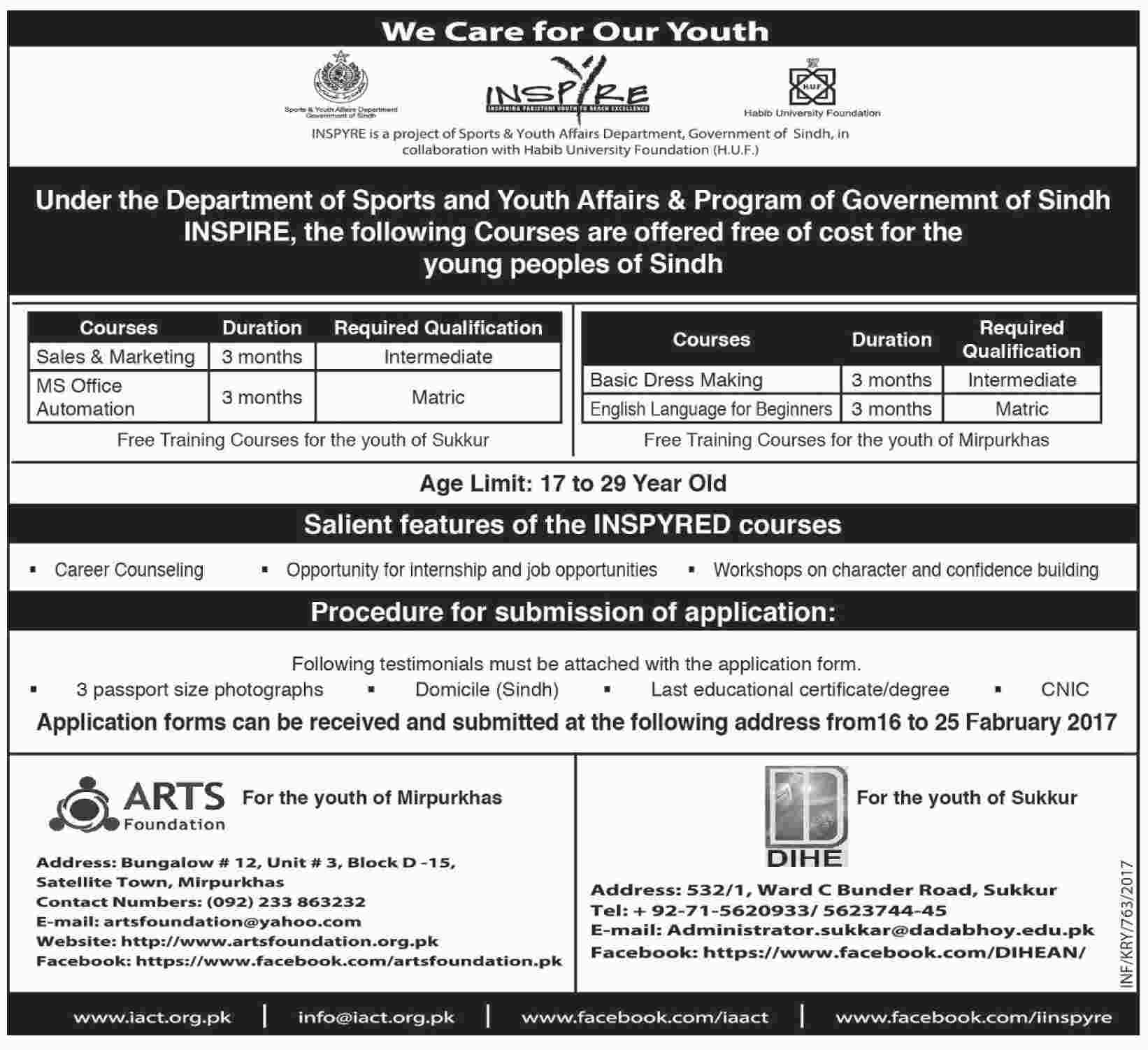 Sports & Youth Affairs & Program Sindh Government Free