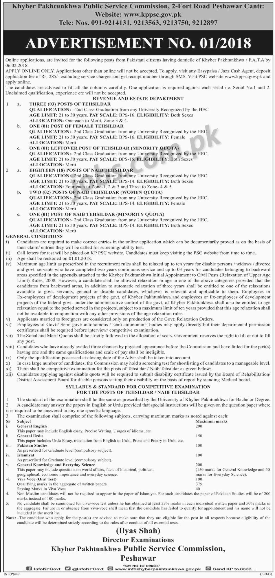 KPPSC-dw Online Govt Job Form Submit on