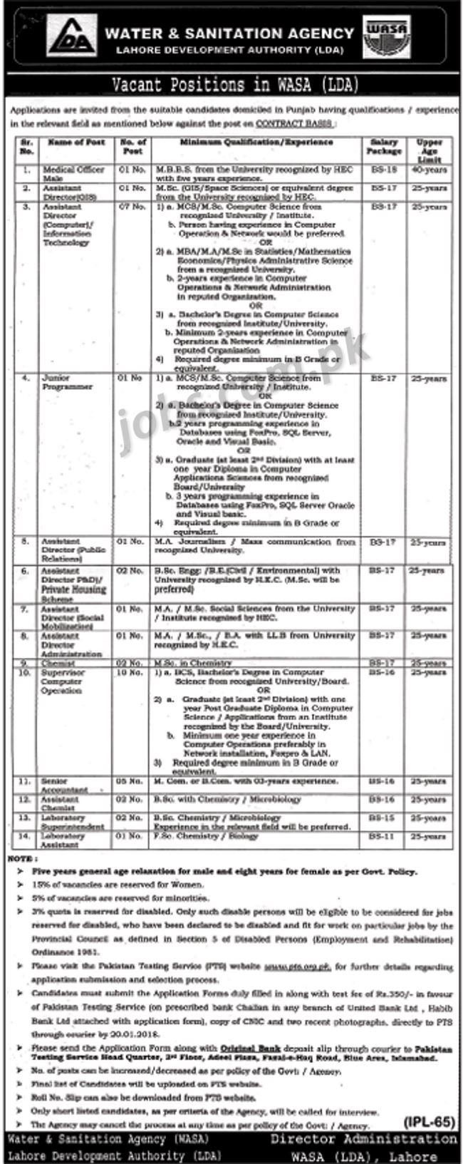 lahore development authority  lda  jobs 2018 for 35  posts