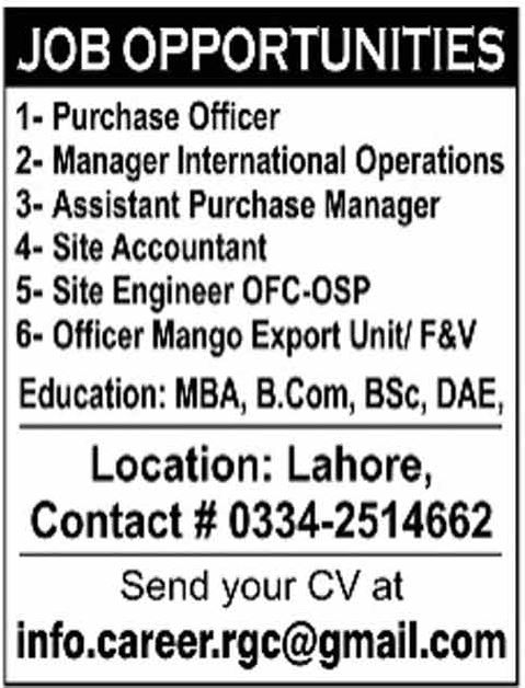 Lahore Company Jobs 2018 for Accounts, Engineering, Purchase ...