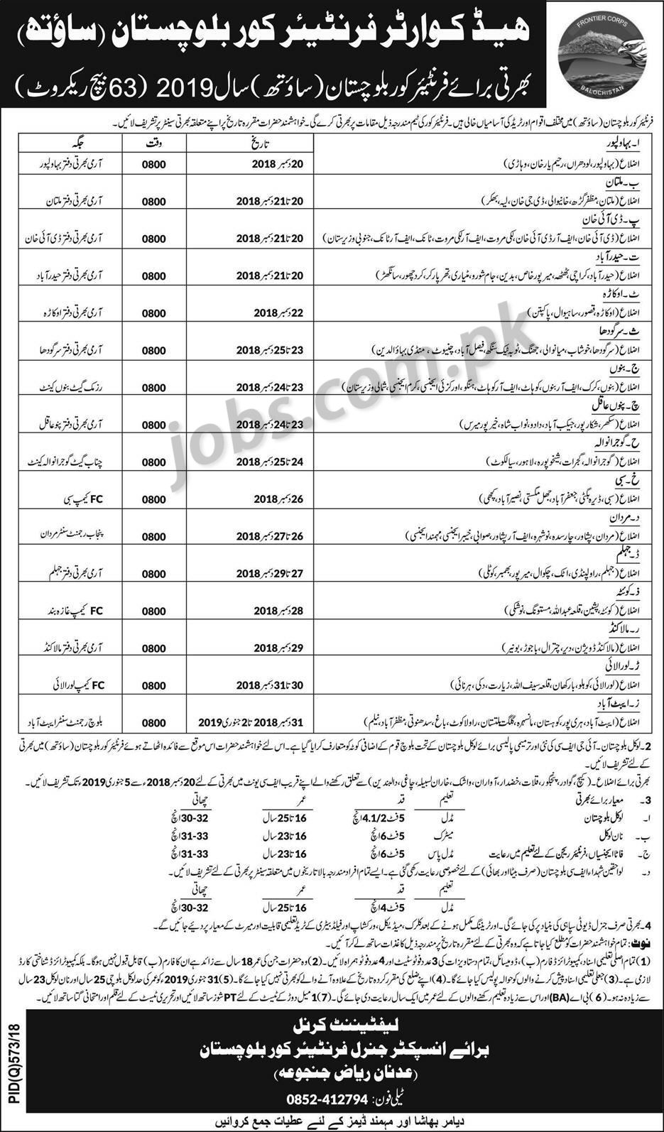 list descriptions, soldiers getting, for engineers, information about, apply islamabad lahore, on online form for army job