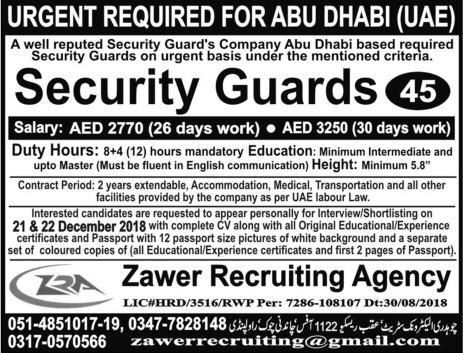 Zra recruitment 2019