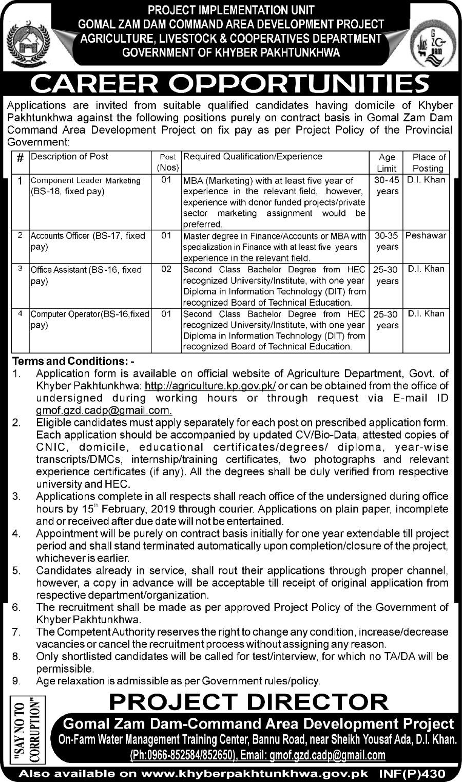 Kp Agriculture Livestock Amp Cooperatives Department Jobs