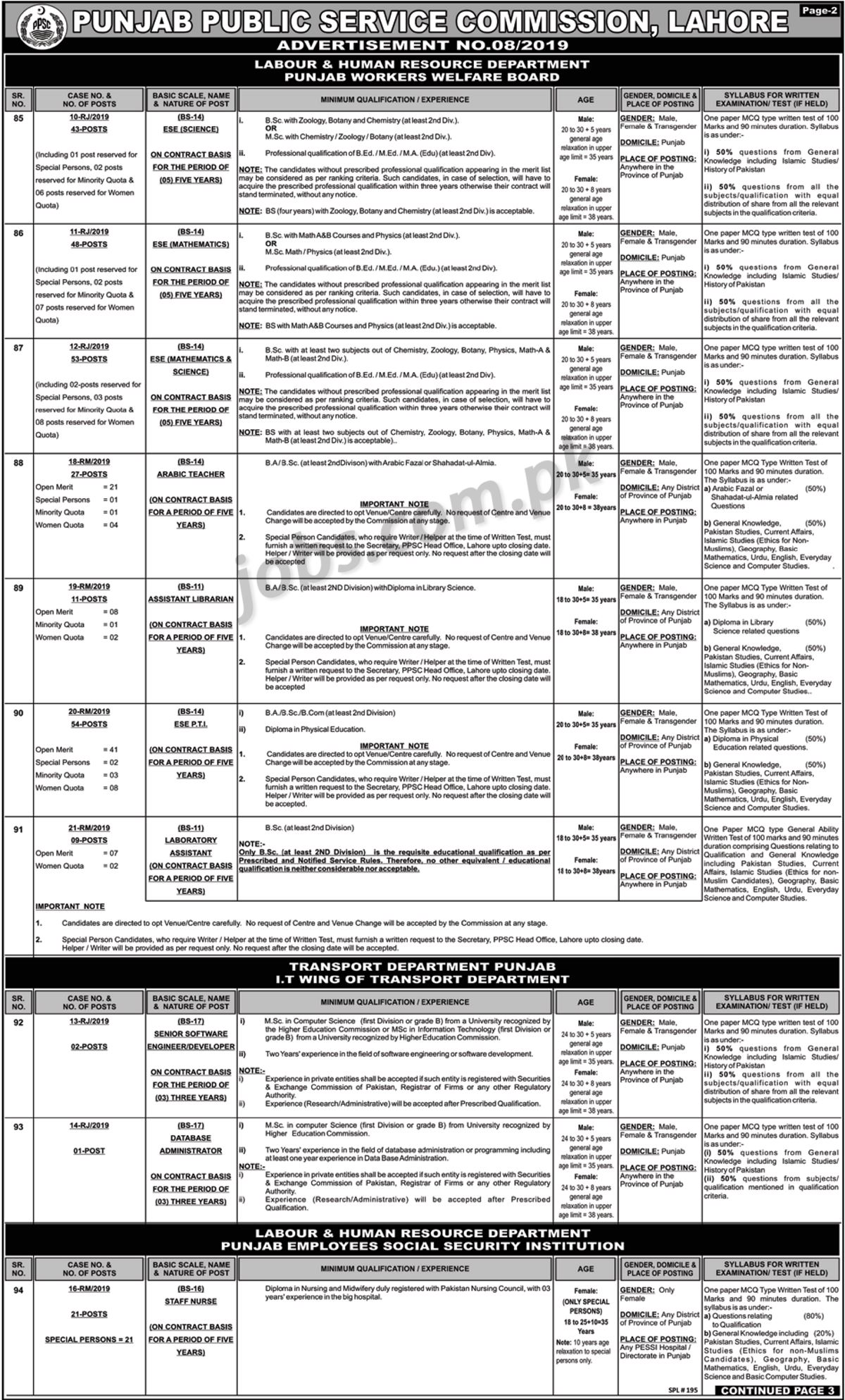 PPSC-820192 Job Application Form For Engineering on blank generic, part time, free generic,
