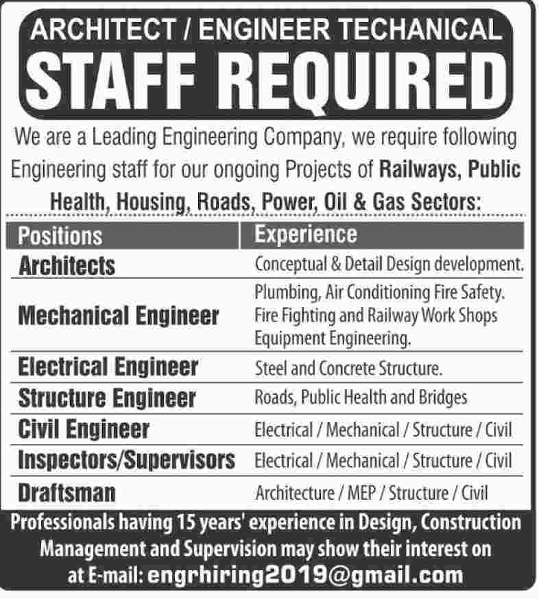 Leading Engineering Company Jobs 2019 For Various