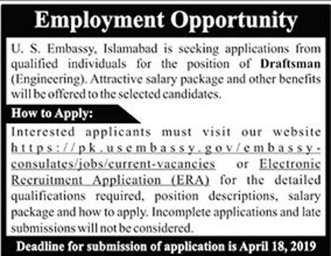Embassy jobs in pakistan 2019