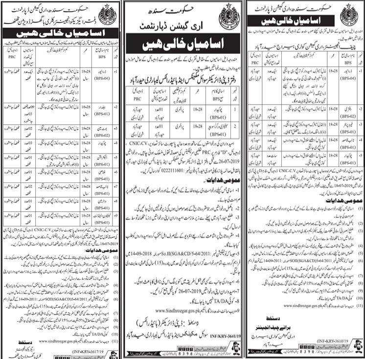 Sindh government jobs july 2019