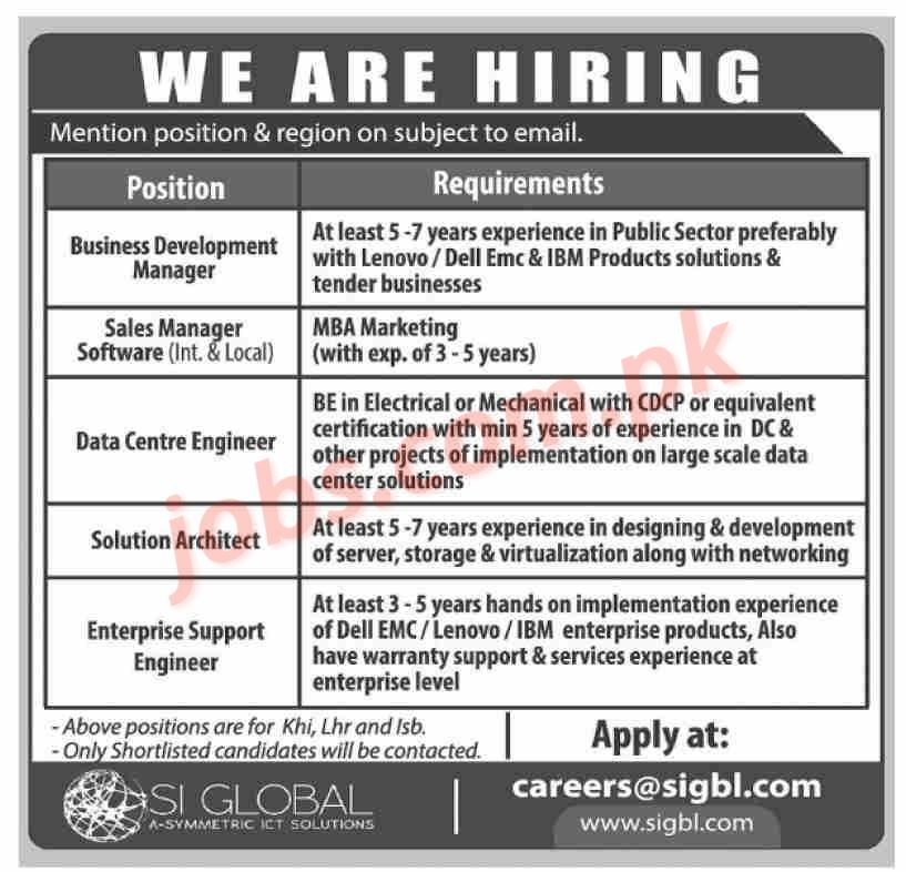 SI Global Jobs 2019 For Business Development Manager