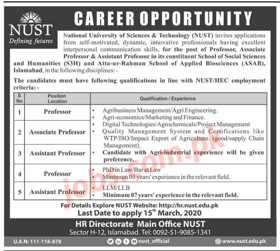 nust-dw Job Application Form Nust on part time, free generic, blank generic,